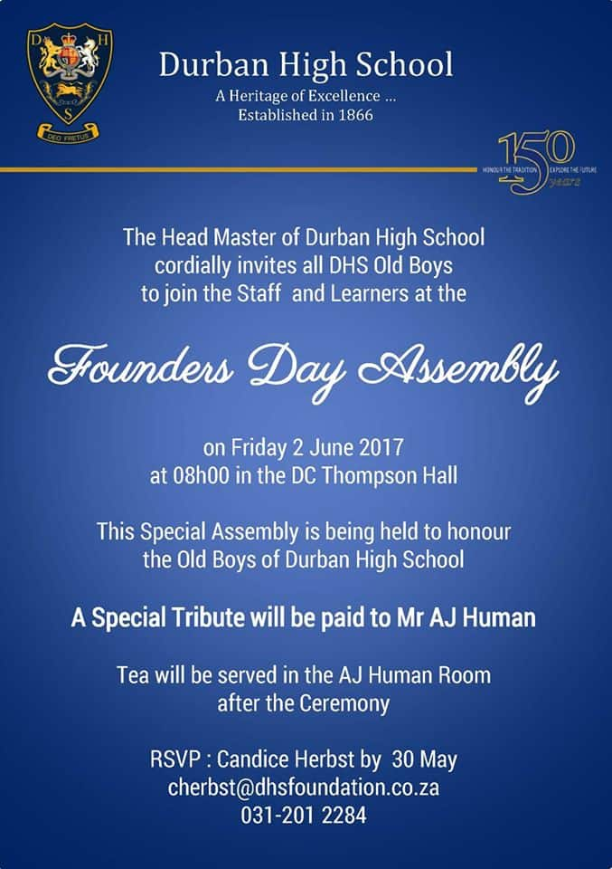 DHS Old Boys Assembly 2 June 2017