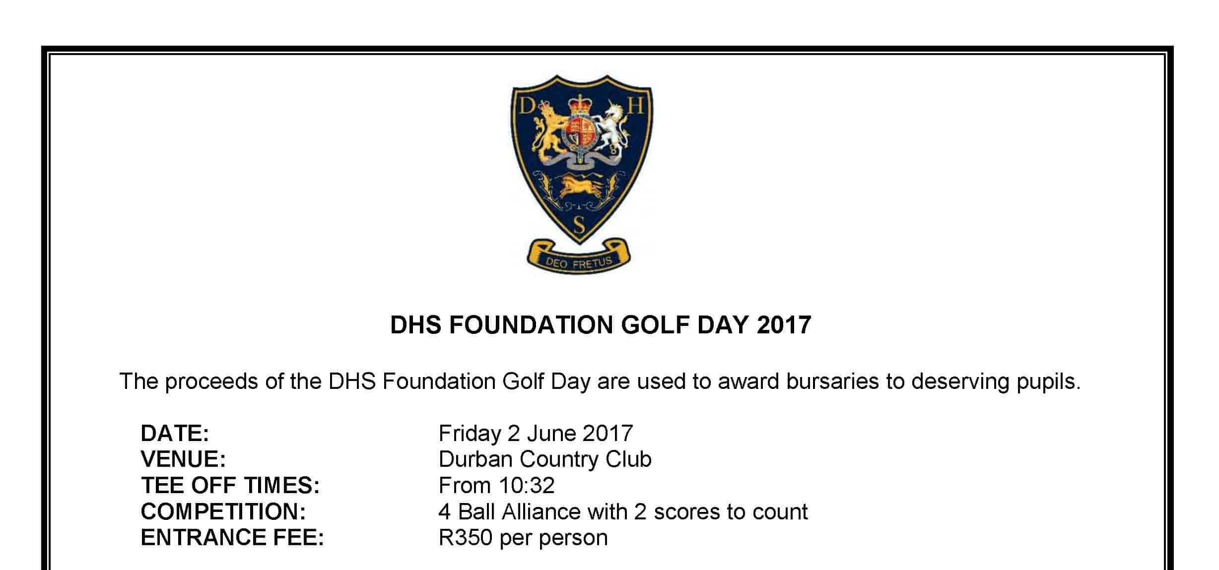 DHS Old Boys Golf Day 2017